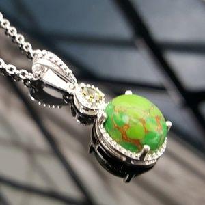Jewelry - Mojave Green Turquoise Pendant